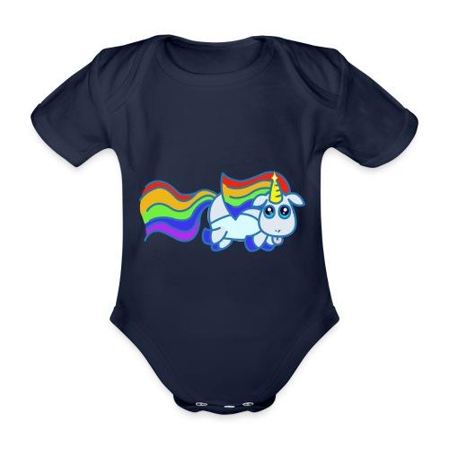 Nyan unicorn - Body ecologico per neonato a manica corta