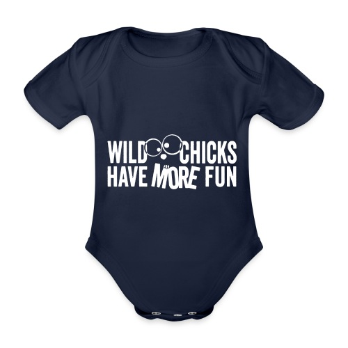 Wild Chicks Shirt einfarbig - Baby Bio-Kurzarm-Body