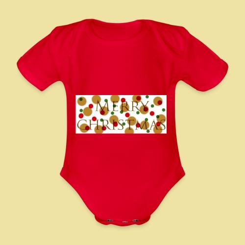 merry-christmas Logo Geschenk - Baby Bio-Kurzarm-Body