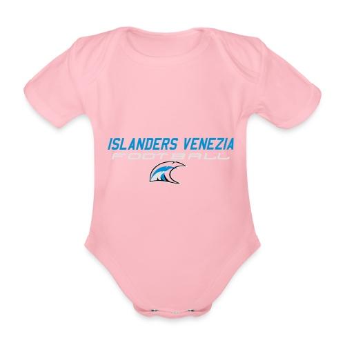 islanders football new logo - Body ecologico per neonato a manica corta