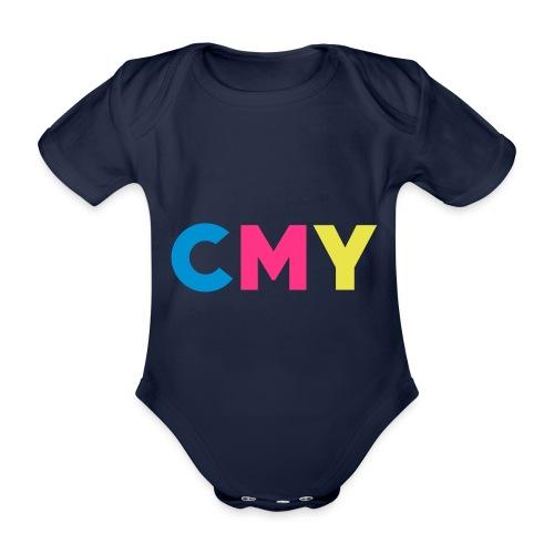 CMYK - Baby bio-rompertje met korte mouwen