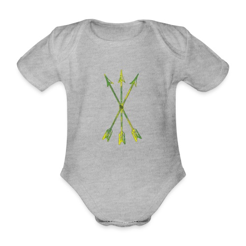 Scoia tael emblem green yellow - Organic Short-sleeved Baby Bodysuit