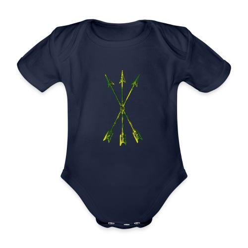 Scoia tael emblem green yellow - Organic Short-sleeved Baby Bodysuit