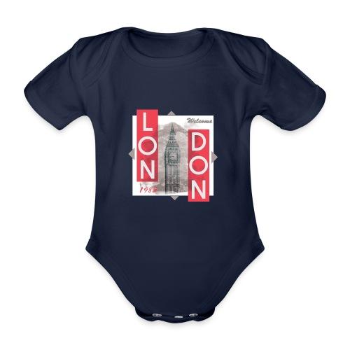 Welcome London - Organic Short-sleeved Baby Bodysuit