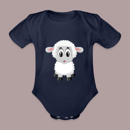 agnellino - Body ecologico per neonato a manica corta