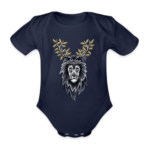 Deer Lion - Organic Short-sleeved Baby Bodysuit