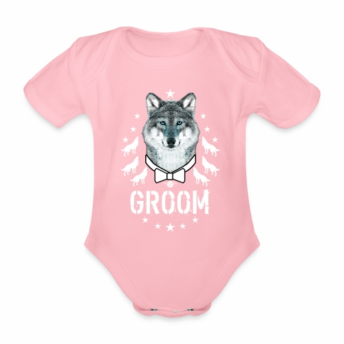 161 Wolf JGA GROOM Wolfpack Sterne - Baby Bio-Kurzarm-Body