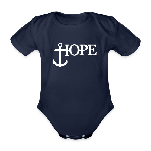 Hope Anker Anchor Hoffnung - Baby Bio-Kurzarm-Body
