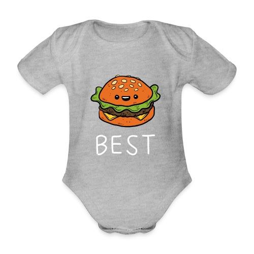 Beste Friends Burger und Pommes Partnerlook - Baby Bio-Kurzarm-Body