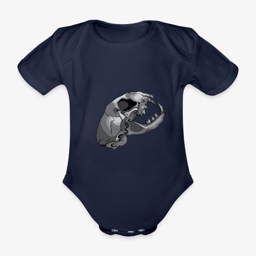 cat skull - Organic Short-sleeved Baby Bodysuit