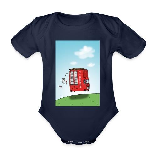 Feuerwehrwagen - Baby Bio-Kurzarm-Body