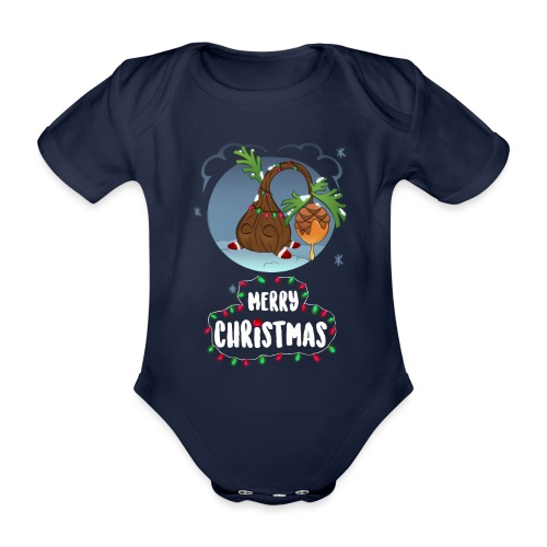 Pino navideño - Body orgánico de manga corta para bebé