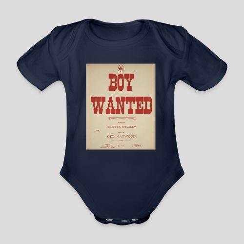 boy wanted1 1 jpg - Body Bébé bio manches courtes