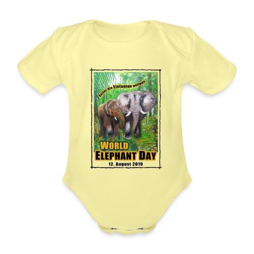 Welt-Elefanten-Tag 12. August 2019 - Baby Bio-Kurzarm-Body