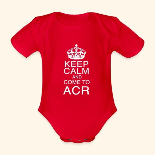 keep calm - Body ecologico per neonato a manica corta