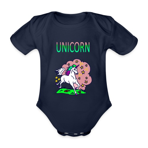 Einhorn unicorn - Baby Bio-Kurzarm-Body