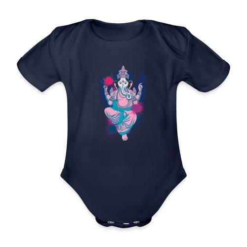 Ganesha dein Glücksgott macht den WEG frei - Baby Bio-Kurzarm-Body