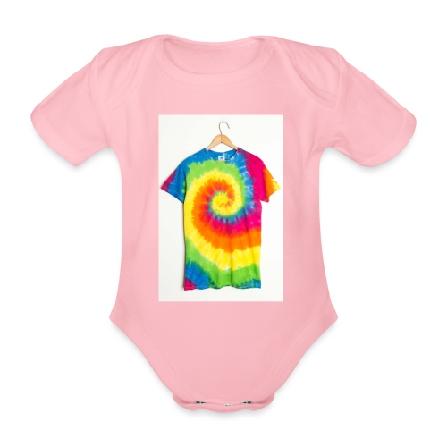 tie die small merch - Organic Short-sleeved Baby Bodysuit