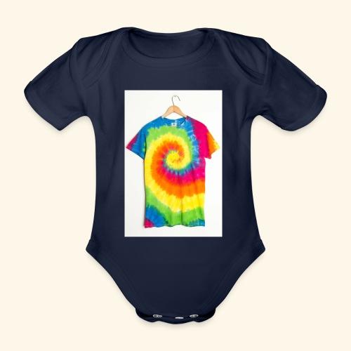 tie die - Organic Short-sleeved Baby Bodysuit