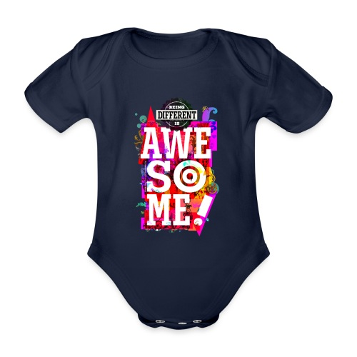 Different = Awesome - Organic Short-sleeved Baby Bodysuit