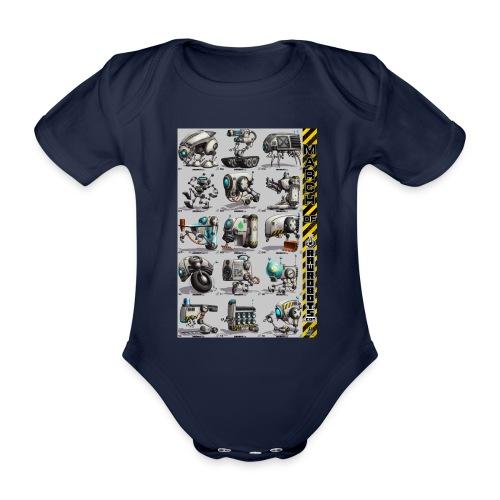 March of Rawrobots 01-15 - Kortærmet babybody, økologisk bomuld