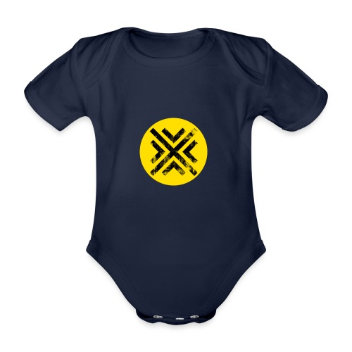 Símbolo Central - Body orgánico de manga corta para bebé