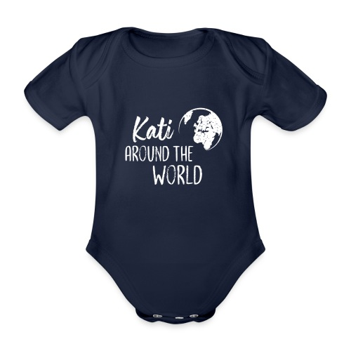 Kati around the world logo - Baby Bio-Kurzarm-Body