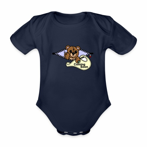 Bärchen Coming Soon - Baby Bio-Kurzarm-Body
