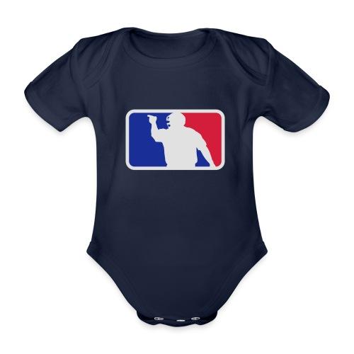 Baseball Umpire Logo - Organic Short-sleeved Baby Bodysuit