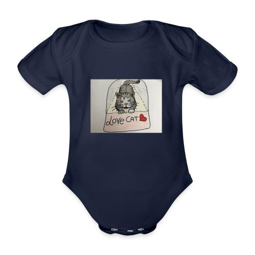 Love cat - Body ecologico per neonato a manica corta