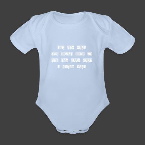 96% - Organic Short-sleeved Baby Bodysuit
