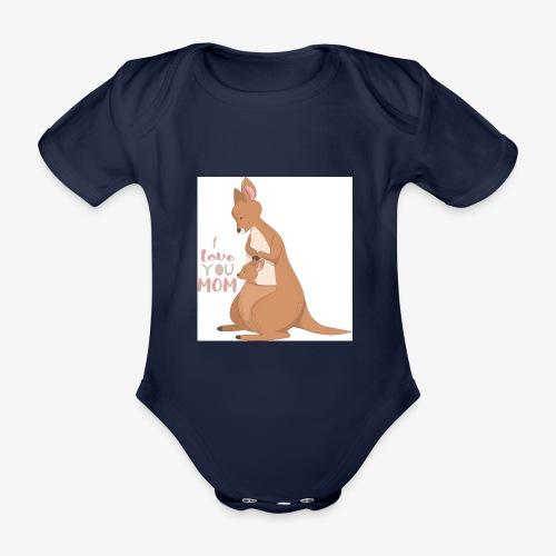 Kangaroo Mom Love - Økologisk kortermet baby-body
