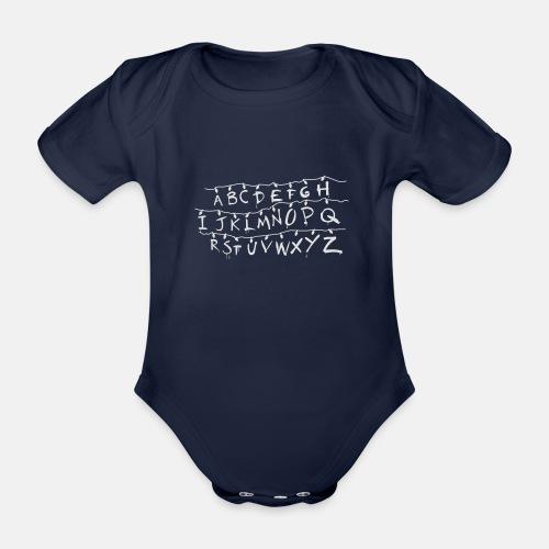 Stranger Things Alphabet T-Shirts - Organic Short-sleeved Baby Bodysuit