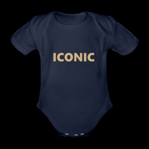 ICONIC [Cyber Glam Collection] - Organic Short-sleeved Baby Bodysuit