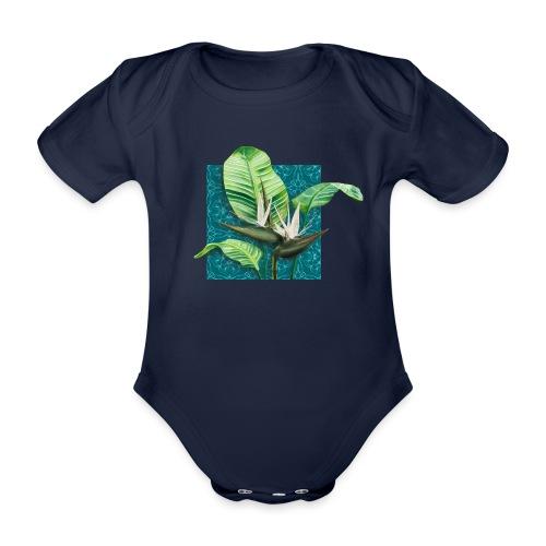 Boho Paradies Strelitzia nicolai Baum-Strelitzie - Baby Bio-Kurzarm-Body