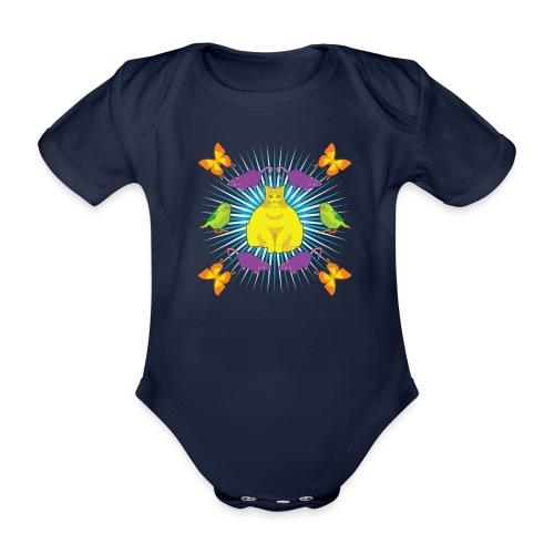 KATTGUDEN - Ekologisk kortärmad babybody