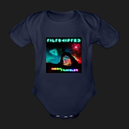 TiltShifted - Neon Traveler - Vauvan lyhythihainen luomu-body