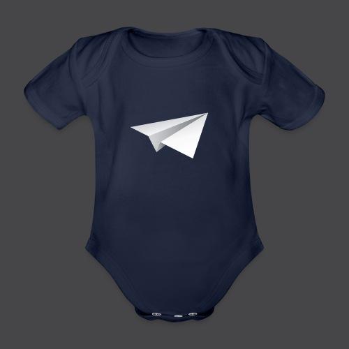 Flieger freigestellt png - Baby Bio-Kurzarm-Body