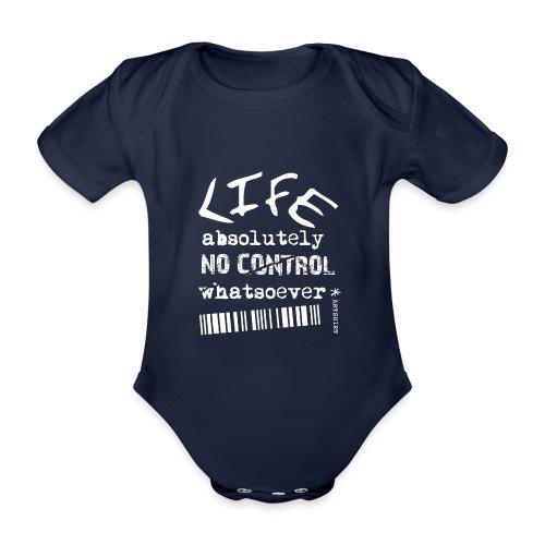 life no control tekst wit - Baby bio-rompertje met korte mouwen