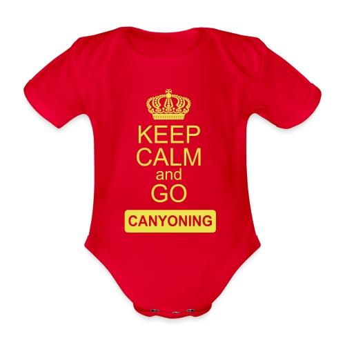 keep calm and go canyoning 2 - Baby Bio-Kurzarm-Body