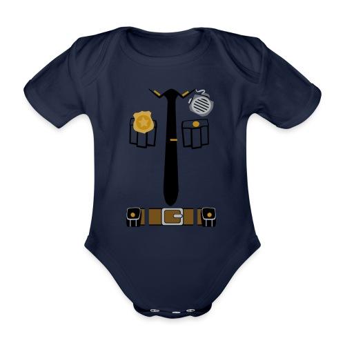 Police Patrol Costume - Organic Short-sleeved Baby Bodysuit