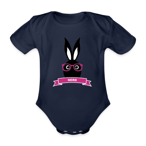 Nerd Kaninchen Hasen Häschen Mümmelmann Langohr - Baby Bio-Kurzarm-Body