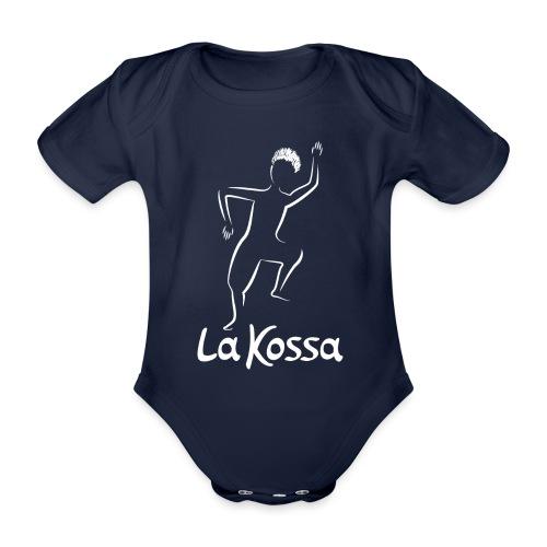 La Kossa - Unser Herz tanzt bunt - Logo weiß - Baby Bio-Kurzarm-Body