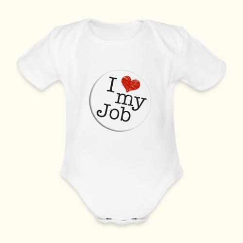 I ❤ my Job Button - Baby Bio-Kurzarm-Body