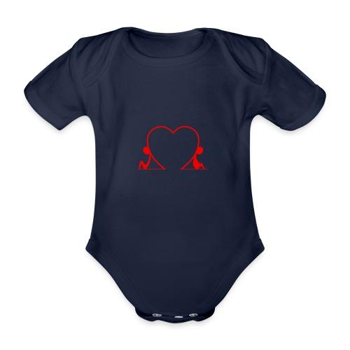 Distanti, ma vicini... RED - Body ecologico per neonato a manica corta