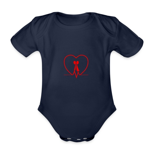 Amarsi un pò... RED - Body ecologico per neonato a manica corta