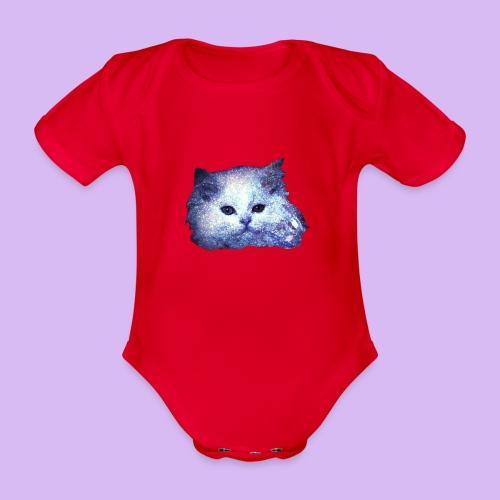 Gatto glitter - Body ecologico per neonato a manica corta