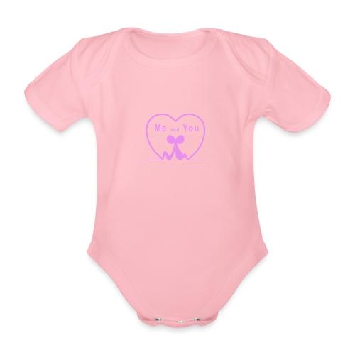 Io e te...PINK - Body ecologico per neonato a manica corta