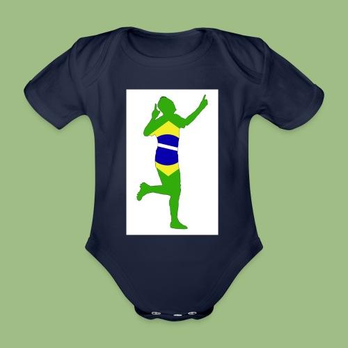 Neymár Brazil - Ekologisk kortärmad babybody