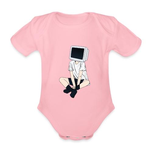 Monitor Head 3 - Organic Short-sleeved Baby Bodysuit